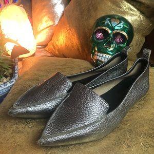 Gunmetal Grey Jefferey Campbell Leather Flats